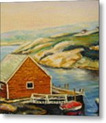Peggys Cove  Harbor View Metal Print