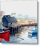 Peggy's Cove Harbour Metal Print