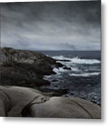 Peggys Cove Impending Storm Metal Print