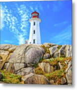 Peggy's Cove Light House Metal Print