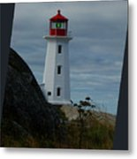 Peggys Cove Lighthouse Metal Print