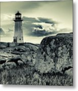 Peggys Cove Lighthouse Metal Print