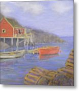Peggy's Cove Lobster Pots Metal Print