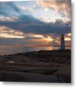 Peggy's Cove Sunset Metal Print