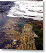 Peggy's Cove Surf Splash Metal Print