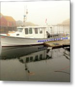 Peggy's Cove Tours Boat In The Rain Metal Print