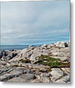 Peggy's Point Lighthouse Metal Print