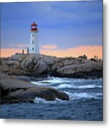Peggy's Point Lighthouse, Nova Scotia, Canada Metal Print