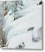 Pekka Halonen, Winter Landscape Metal Print