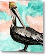 Pelican 3 Metal Print