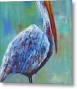 Pelican Metal Print by Holly Donohoe
