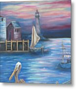 Pelican Port Metal Print