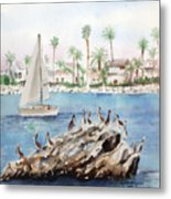 Pelican Rock Metal Print