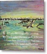 Pelicans Fly Psalm 139 Metal Print