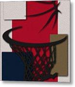 Pelicans Hoop Metal Print