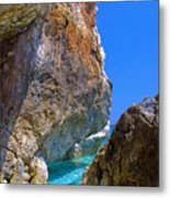 Pelion Rocks Metal Print