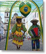 Pelourinho - Historic Center Of Salvador Bahia Metal Print