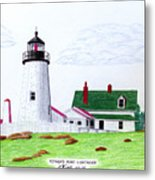 Pemaquid Point Lighthouse Metal Print by Frederic Kohli