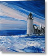 Pemaquid Winter Light Metal Print