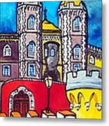 Pena Palace In Sintra Portugal  Metal Print