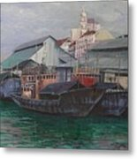 Penang Jetty Metal Print