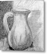 Pencil Pitcher Metal Print