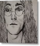 Pencil Portrait Of John Lennon  Metal Print