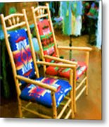 Pendleton Chairs Metal Print