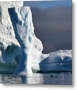 Penguin And Ice Metal Print