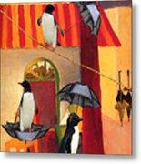 Penguin Cafe Metal Print