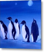 Penguins On A Night Out.sold Metal Print