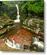 Pennsylvania Red Rock Falls Metal Print