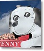 Penny Dog Food Sign 3 Metal Print