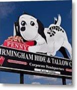 Penny Dog Food Sign 1 Metal Print