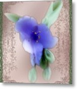 Penny Postcard Wildflower Metal Print