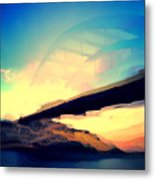 Pennybacker Bridge Metal Print
