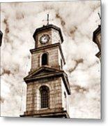 Penryn Clock Tower In Sepia Metal Print