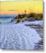 Pensacola Beach Orange Metal Print