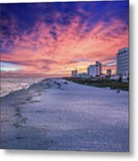 Pensacola Beach Vibrant Sunset Metal Print