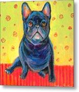 Pensive French Bulldog Painting Prints Metal Print