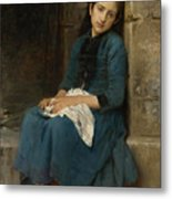 Pensive Girl. Innocence Metal Print