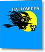 Pentacle Halloween Witch Metal Print
