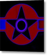 Pentagram In Red Metal Print