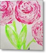 Peonies In Bloom Metal Print
