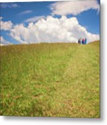 People On The Hill Painterly Metal Print