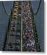 People Participating In The Annual Metal Print by Phil Schermeister