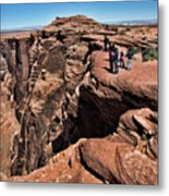 People View Horseshoe Bend Rock Edge  Metal Print