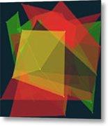 Pepper Polygon Pattern Metal Print