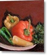 Peppers And Parsley Metal Print