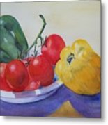 Peppers And Tomatoes Metal Print